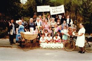 Landfrauen beim Festzug 1982 in Blankenbach (650 Jahrfeier)